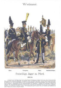 Band XVII #2.- Sachsen-Weimar. Freiwillige Jäger zu Pferde 1813-14.