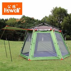 5-8 Person High Quality Windproof Waterproof Outdoors Hex Beach Automatic Tent Durable Family Camping Gear Party Marquee Tente