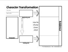 Character Transformation Graphic Organizer and Notebooking Page