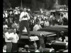 Bonus Army: US military attacks demonstrating American War Veterans of WWI............shame on President Hoover!