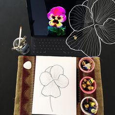 Day 9 #30ideas30days #illustration #flowers #blackandwhite #drawing #patternly.design #30ideias30dias #ilustração #flores #pretoebranco #desenhoobservacao #decolalab2016 #oficinaamandamol