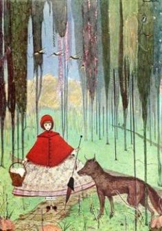 The Little Red Riding Hood: illustration by Harry Clarke.