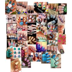 Nail Art Collage, created by closetshoefetish on Polyvore