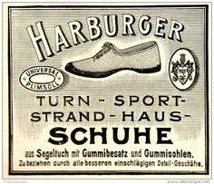 Original-Werbung/ Anzeige 1897 - HARBURGER GUMMI-SCHUHE - ca. 80 x 65 mm