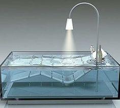 Cristalli, una bañera completamente transparente   Domokyo