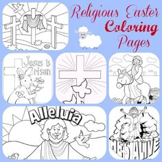 25 religious easter coloring pages