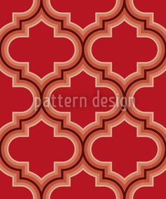 Retro Morocco Red created by Rebecca Wismeg offered as a vector file on patterndesigns.com Vector Pattern, Retro Design, Vector File, Surface Design, Morocco, Print Patterns, Shapes, Create, Artwork