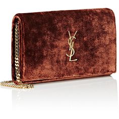 Saint Laurent Monogram Chain Wallet ($1,550) ❤ liked on Polyvore featuring bags, wallets, strap wallet, yves saint laurent wallet, credit card holder wallet, snap bag and snap closure wallet
