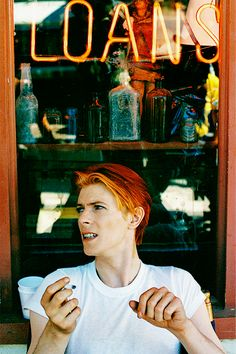 David Bowie photographed by Geoff MacCormack in New Mexico, 1975