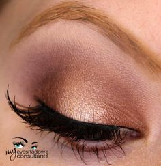 MAC eyeshadows used: Twinks (inner and outer third of lid; line lower lashline) All That Glitters (middle of lid) Quarry (crease) Blackberry (deepen and define crease) Vanilla (blend)