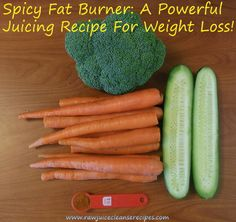 The Spicy Fat Burner Juice Recipe For Weight Loss! Cayenne pepper increases your metabolism with its thermogenic properties, which makes your body burn more calories throughout the day! The other veggies provide nutrients that also support weight loss.