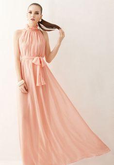 Vestidos Women Maxi Dress Elegant Bohemia Beach Summer Dress Perfect Fairy Hang-Neck Sexy Summer Dress Chiffon Halter Long Dress