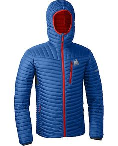 First Ascent MicroTherm Down Hooded Jacket. Awesome layering jacket for going under hard shell.