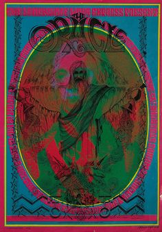 Oracle Hippie Newspaper  Art by Victor Moscoso And Rick Griffin. (1967)