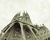 Barcelona Sagrada Familia Fine Art Canvas or Photo Paper Print Photography Cathedral Black and White Photography  Spain 8x10 or 8x12