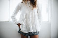 NEW IN: Frida Flowy Top http://shopsincerelyjules.com/collections/sweatshirts/products/frida-flowy-top