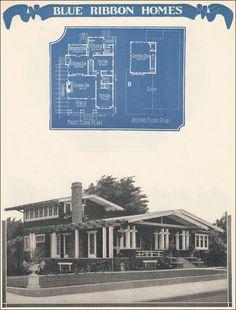 1924 Radford's Blue Ribbon Homes - Airplane Bungalow - Sleeping Porch and California Style - Radford - Blue Ribbon Homes