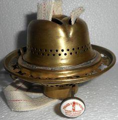 Unique 3 Wick Kerosene Lamp Burner Prince & Symmons Doty Light Victorian Era Glass Light Shades, Vaseline Glass, Kerosene Lamp, Brass Lamp, Prince, Oil Lamps, Victorian Era, Decorative Bells, Clear Glass