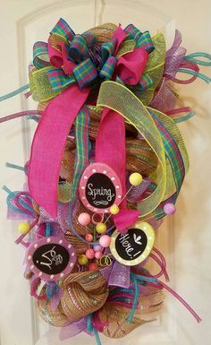 Spring/Easter Swag by TwistedLilyFlorals on Etsy