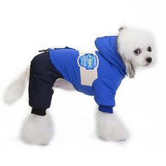 Pet Products The Best Fashion Fur Fleece Dog Romper Winter Warm Pet Clothes Jumper Crown Print Jumpsuit Overall Costume For Puppy Doggie Pet Dog Jumpsuits & Rompers