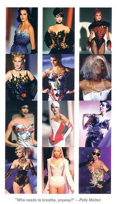 Thierry Mugler 1989-1998. Photos by Patrick Stable and Jean-Phillippe Decros.