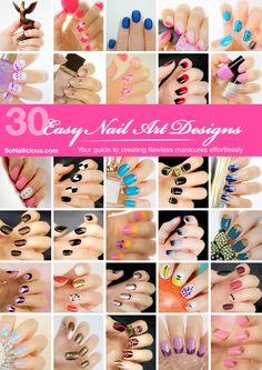 30 Easy Nail Designs and Nail Art Tutorials book - Available now. Click through to get a copy!