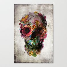 SKULL 2 Stretched Canvas by Ali GULEC - $85.00...love this!