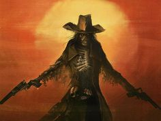 Guns out of the Grave -- Pathfinder Undead Gunslinger Feat Guns out of the Grave You don't stay dead, and you bow to none. Possessed of a soul that burns with hated and an unquenchable thirst for. Westerns, Vampires, Character Art, Character Design, Skeleton Art, West Art, Cowboy Art, Le Far West, Old West