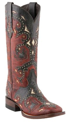 Lucchese Studded Scarlet cowboy boots