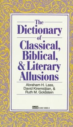 discuss biblical allusions that foster does not mention Reading: how to read literature like a professor by thomas foster in literary fiction, things may not always be as they seem you are to read the book and answer ten of the following questions based on how to read literature like a professor.