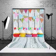 3x5FT Birthday Party Baby Kids Vinyl Photography Backdrop Background Studio Prop
