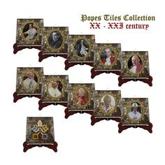 Roman Catholic Church - catholic gifts - Popes tiles collection - handmade in Italy - religious gifts - catholic art - catholic popes - holy