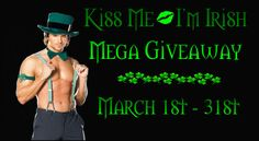 Authors from the Romance community invite you toKiss Me - Because I'm IrishOur Prizes are:  3 Kindle Fires    $50 Amazon Gift Card$25 Amazon Gift Card$25 Barnes & Noble Gift Card3 - $10 Amazon Gift Card  3 - $10 Barnes & Noble Gift CardTo enter for our prizes, please sign up below in order of entry options. ENTRY OPTION 1 - CLICKHERETO FOLLOW THESE AUTHORS ON AMAZONENTRY OPTION 2 - CLICKHERETO FOLLOW THESE AUTHORS ON BOOKBUBENTRY OPTION 3 - CLICKHERETO LIKE T...