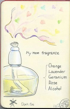 I made room fragrance.    For this piece I used:  Faber-Castell Polychromes and Moleskine sketchbook.