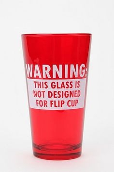 #college #cup Flip Cup Pint Glass
