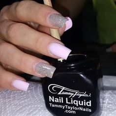 Love this set using a mix of White Acrylic and Party Girl Prizma and Star Light Star Bright Gelegance by Tammy Taylor Nails South Africa