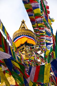 Prayer Flags, Boudhanath, Nepal