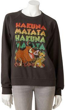Mighty fine disney lion king sweatshirt - juniors on shopstyle.com