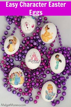 Tattoo Easter Eggs. Have any character yours kids want with these Tattoo Easter Eggs. Easy Easter Eggs for kids to decorate they way they want to
