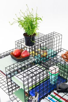 Furniture based on a two-dimensional grid system used for architectural drawing.