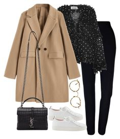 """""""Untitled #5340"""" by theeuropeancloset ❤ liked on Polyvore featuring Plakinger, Koché, Yves Saint Laurent and Eyevan 7285"""