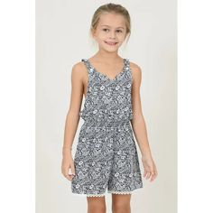 Mini Molly Girls Playsuit Navy & White Petals Lace Front Cutout in Navy. Available in Size Style ID Shop more Girls Rompers online today. Girls Playsuit, Girls Rompers, Designer Kids Wear, Navy And White, Girl Outfits, Spring Summer, Leggings, Lace, Shopping