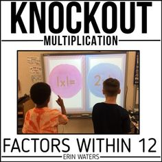 This quick-paced, nail-biter of a multiplication math game will leave your kids BEGGING for more! Team up to knock out the other team's player. The last team standing wins! This is by far the most engaging thing I've done for my classroom this year. My kids get SO excited when we play, and they work super hard all week practicing their math facts just so they can improve their Knockout game!