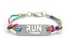 RUN  Running Bracelet by Ironjen on Etsy, $26.00