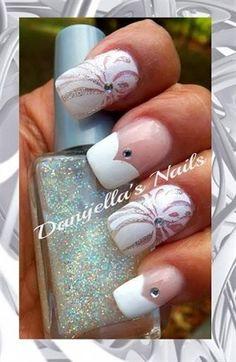 Wedding nails by DanijellaDavis - Nail Art Gallery nailartgallery.nailsmag.com by Nails Magazine www.nailsmag.com #nailart