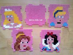Disney Princess box hama perler beads by deco.kdo.nat