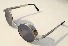 Retro goggle sunglasses - Etsy listing at https://www.etsy.com/listing/206359504/retro-handmade-round-steampunk-mens