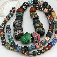 SKJ ancient bead art Venetian  glass trade beads