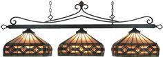 Bronze Tiffany Style Pool Table Light -