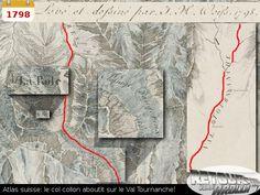 1798 - Atlas suisse, le col collon aboutit dans le val de Tournanche Once Upon A Time